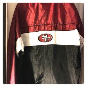 SAN FRANCISCO 49ERS Windbreaker Jacket! LIKE NEW!